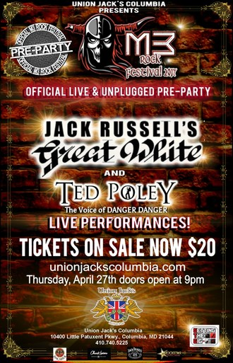 THE OFFICIAL M3 2017 PRE-PARTY FEATURING ACOUSTIC SHOWS WITH JACK RUSSELL & TED POLEY!
